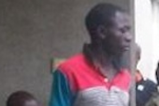 Sarduna Onum, 20,(wearing red and grey shirt) who gives false information to the police