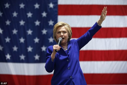Hillary Clinton US Democratic Party Presidential Candidate