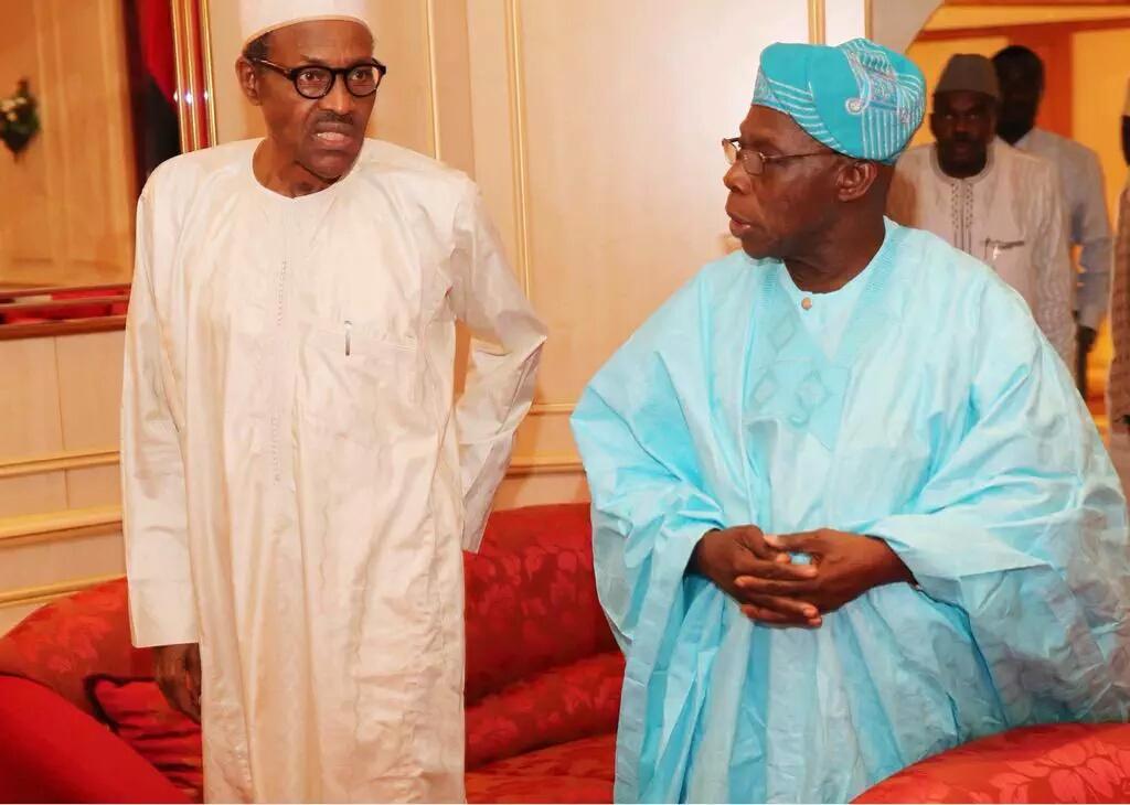 Buhari meets Obasanjo