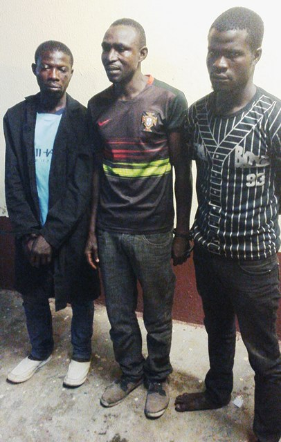 The suspected robbers arrested by RRS operatives