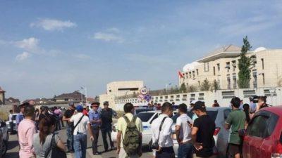 Chinese embassy employees were evacuated
