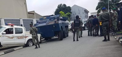 Government House, Port Harcourt as the police take over this morning  Wednesday August 17