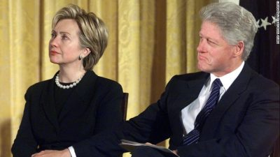 Hillary and Bill Clinton, former president of the United States