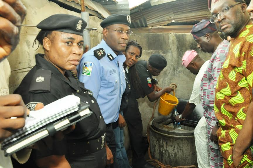Police CP, Owoseni, Steve Ayorinde, Lagos Commissioner for Information and Strategy and others at the scene,