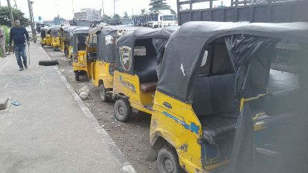 Some of the tricycles impounded
