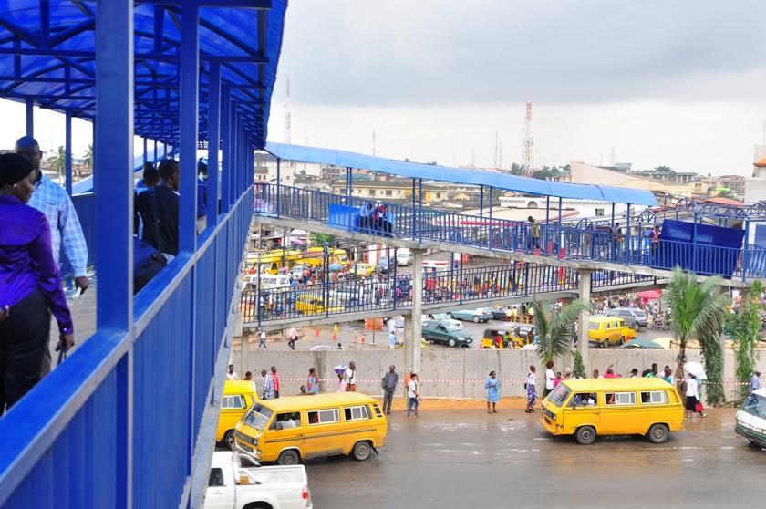 The completed Pedestrian bridge at Berger, Lagos, Southwest Nigeria.