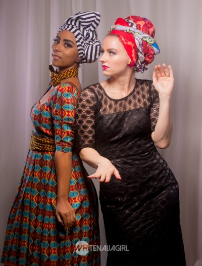 White Naija Girl and her model in another striking pose