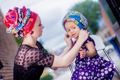 White Naija Girl and a child model