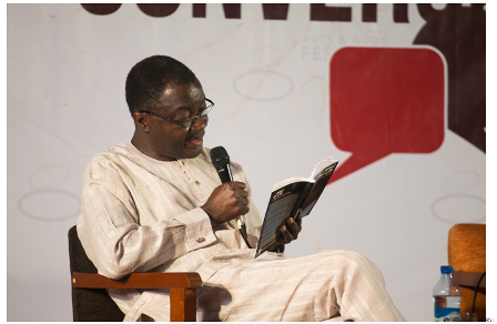 Kunle Ajibade, reading from his prison diaries.