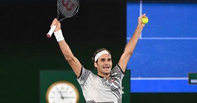 Switzerlands-Roger-Federer-celebrates