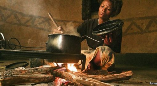 Woman cooking with Firewood