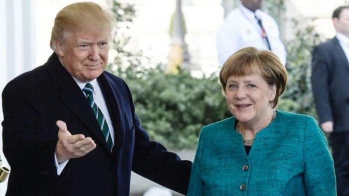 Trump and Merkel