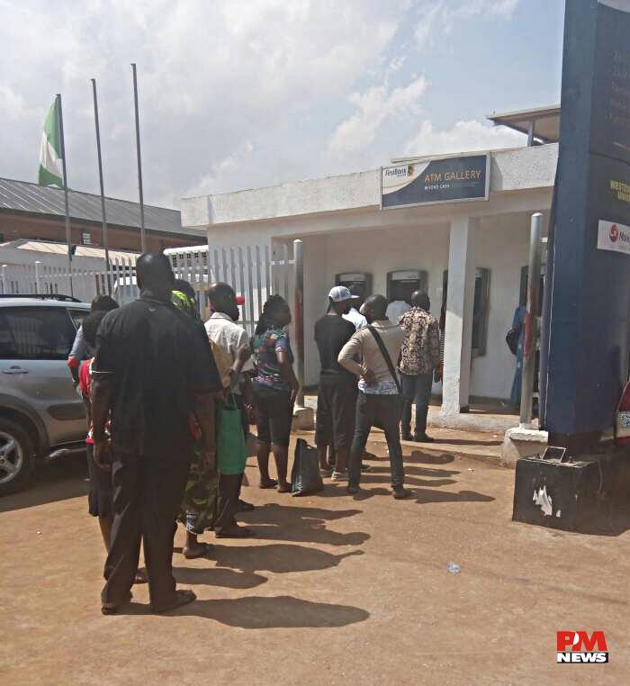 ATM queue at first bank Ipaja