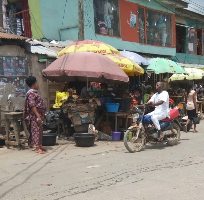 Activities ongoing at Ketu Alapere Market