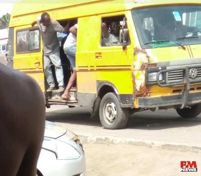 Keep it moving Oshodi Yellow bus