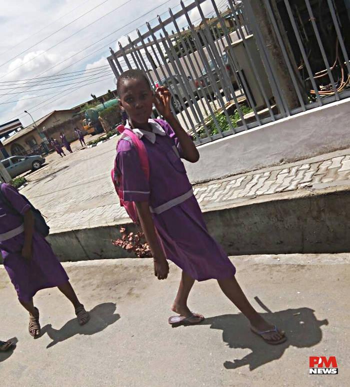 student of Okota High School at Isolo Okota