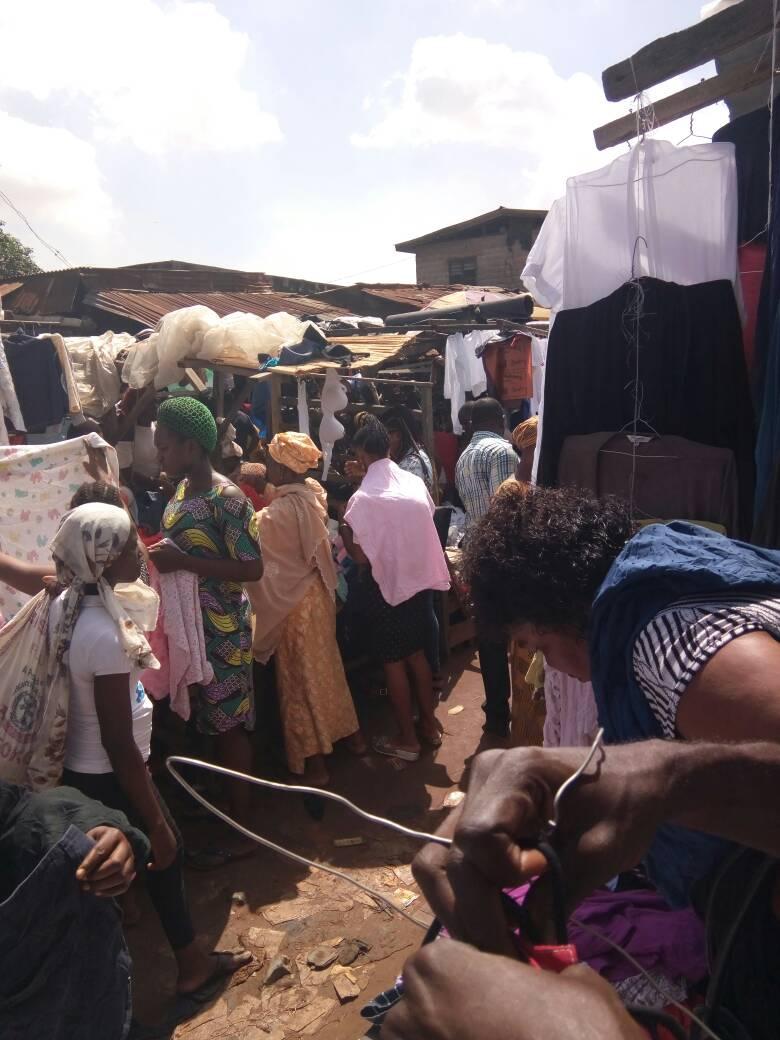 People at Katanguwa Market.