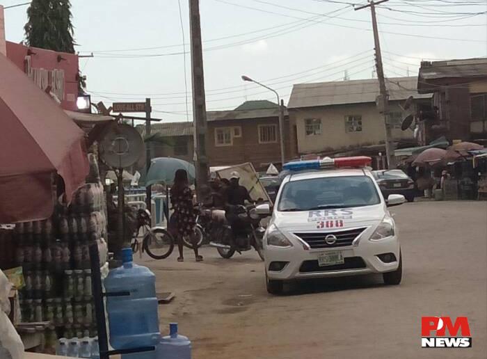 police on patrol at Ikosi ketu