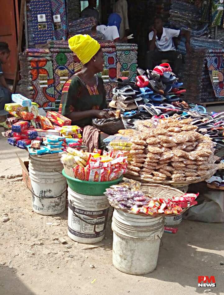 Happy Trader at Oshodi Market