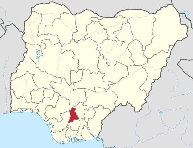 Location of Anambra in Nigeria.