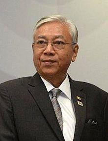 President Htin Kyaw of Myanmar