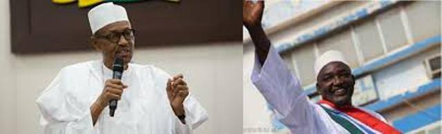 Buhari and Adama-Barrow-of-Gambian