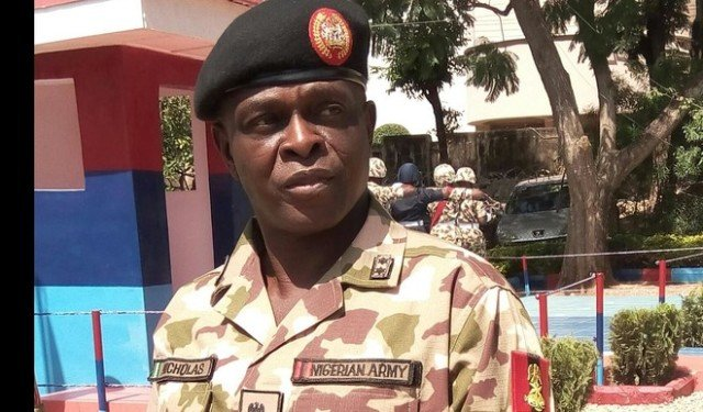 Maj.-Gen. Rogers Nicholas, the Theatre Commander, Operation Lafiya Dole