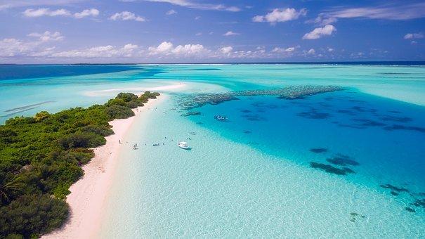 Ocean view drone