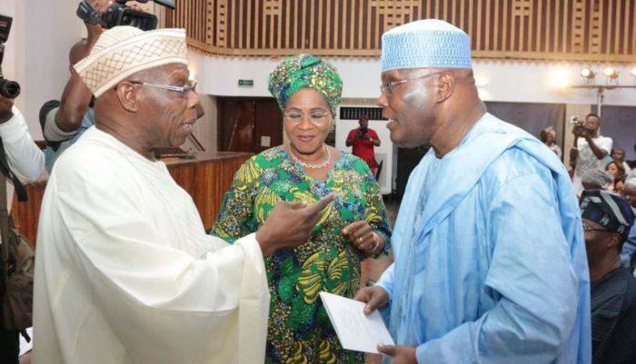 Obasanjo, Dupe Adelaja, Atiku at the memorial for Abraham Adesanya