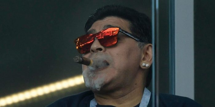 Diego-Maradona-smokes-cigar-during-Argentina-versus-Iceland-at-ongoing-2018-FIFA-World-Cup-in-Russia