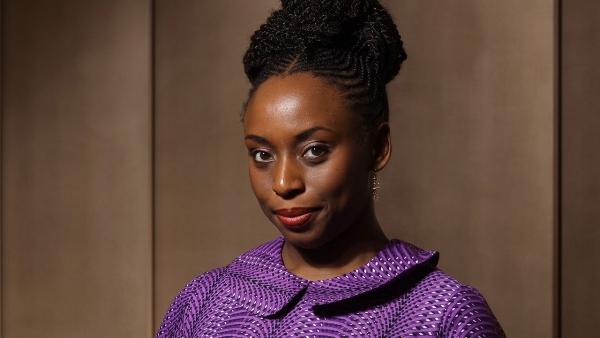 Author Chimamanda Ngozi Adichie photographed at One Aldwych.