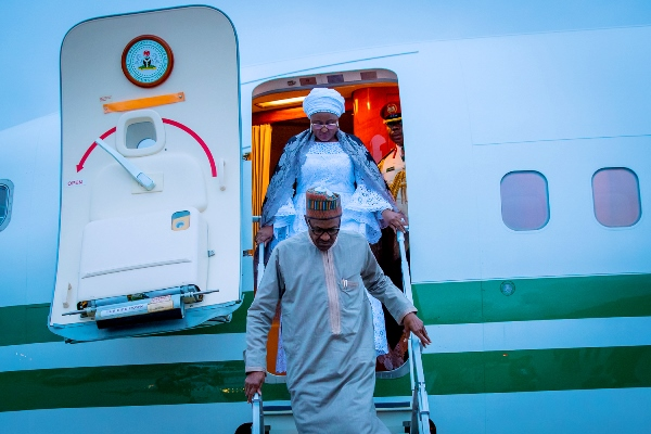 Buhari-arrives-in-New-York