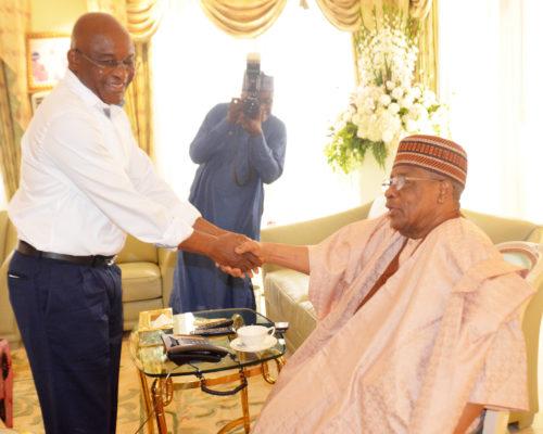 PDP Presidential Aspirant, Sen Mark visits IBB in Minna, Niger State