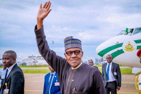 Buhari departs for London