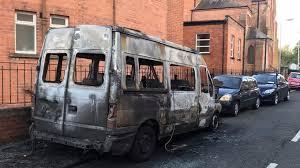 a burnt vehicle