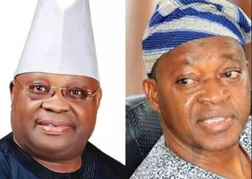 Senator Ademola Adeleke (PDP) and Adegboyega Oyetola (APC)