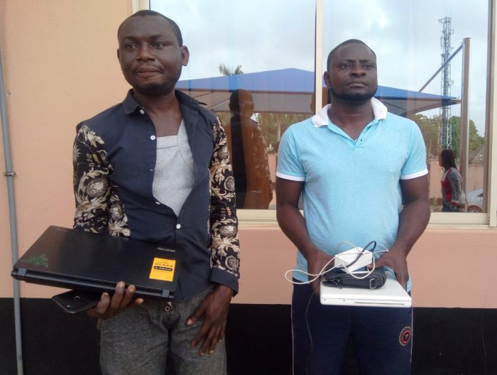 Suspects handed over to EFCC by Operation Burst are, Operation Burst