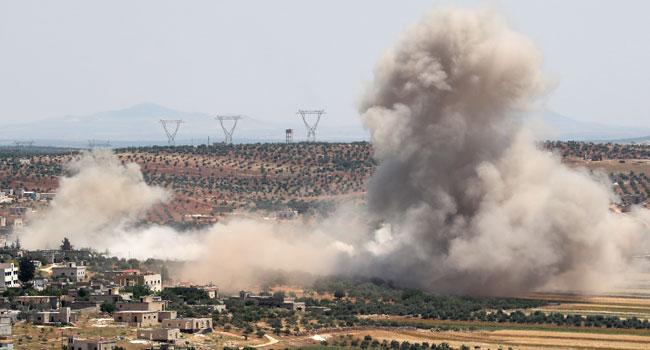 Fresh strikes on Syria.