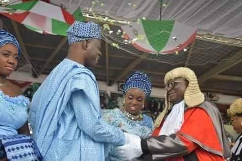 Makinde with the Chief Judge, Justice Muntar Abimbola