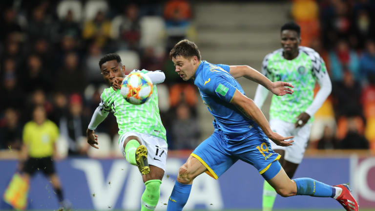 Nigeria and Ukraine played out a 1-1 draw in. chilly Bielsko-Biala Stadium Poland