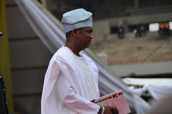 Obafemi Hamzat, deputy governor arrives for the swearing in