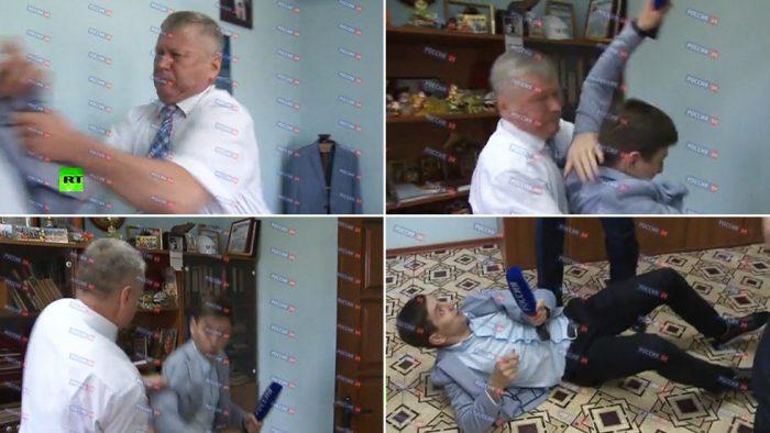 Sergey Zaytsev attacking the reporter2