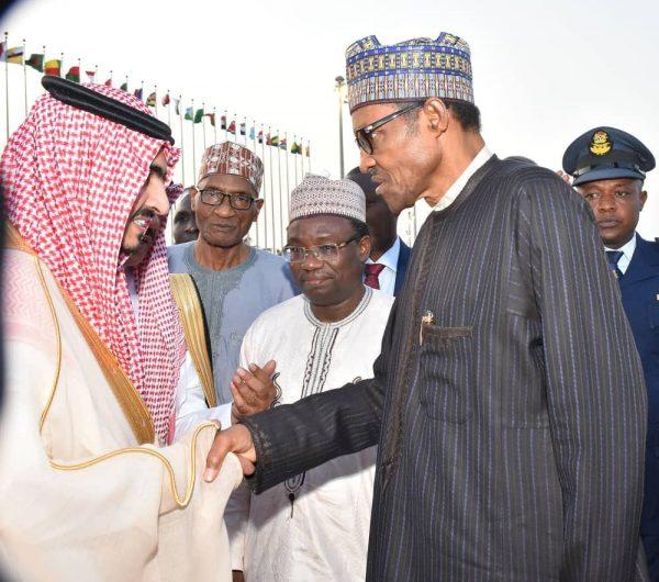 Welcome to President Buhari by Prince Abdullah bin Bandar bin Abdulaziz Al Saud