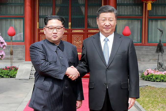 Kim and Xi earlier this year