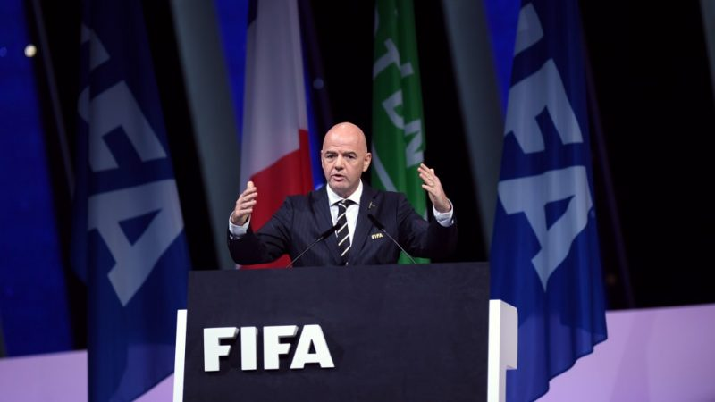 Gianni Infantino: re-elected unopposed for a fresh four-year term