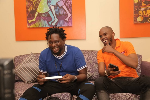 Klint da Drunk and Comedy Store host, Alex Muhangi