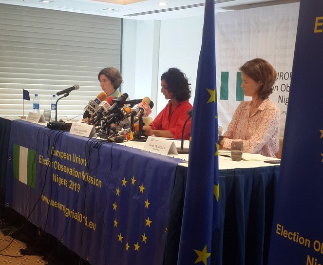 Maria Arena for EU Election Observation Mission giving its report on the 2019 elections