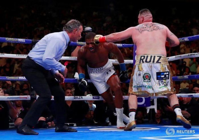Ruiz knocks down Joshua four times