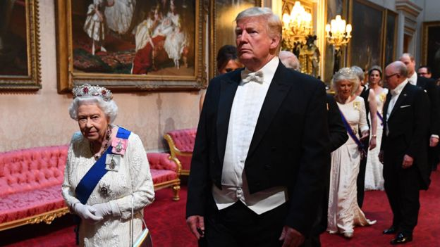 The Queen and Mr. Trump on Day 1