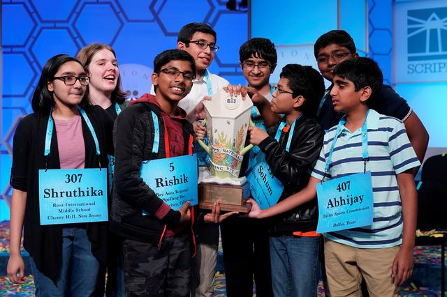 The super spellers: L-R: